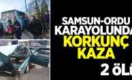 Samsun-Ordu Karayolunda Korkunç Kaza: 2 Ölü