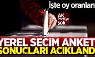 Yerel Seçim Anketi Sonuçları Açıklandı! AK Parti'ye şok...