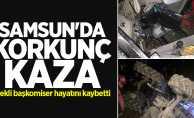 Samsun'da korkunç kaza! Emekli başkomiser hayatını kaybetti