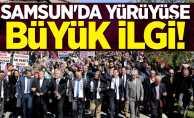 Samsun'da yürüyüşe büyük ilgi