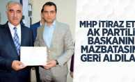MHP itiraz etti AK Partili başkanın mazbatasını geri aldılar
