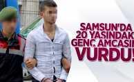 Samsun'da genç amcasını vurdu!