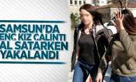 Samsun'da genç kız çalıntı mal satarken yakalandı