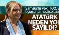 Samsunlu vekil 100. yıl logosunu meclise taşıdı!
