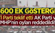 3600 ek gösterge AK Parti ve MHP'nin oylarıyla reddedildi