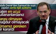 Mustafa Demir suya yapılan zammın ardından konuştu