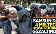 Samsun'da 4 mülteci uyuşturucudan gözaltında
