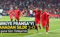 Türkiye Fransa'yı sahadan sildi! Bu gurur tüm Türkiye'nin! 2-0