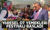 Yöresel ot yemekleri festivaline yoğun ilgi