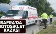 Bafra'da Motosiklet Kazası