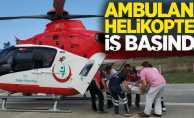 Ambulans helikopter iş başında