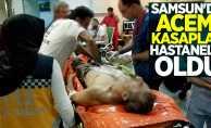 Samsun'da acemi kasaplar hastanelik oldu