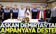 Başkan Demirtaş'tan kampanyaya destek