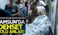 Samsun'da annesiyle sokak ortasında dehşeti yaşadı