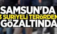 Samsun'da 3 Suriyeli terörden gözaltında