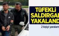 Samsun'da tüfekli saldırgan yakalandı