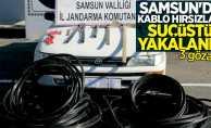 Samsun'da kablo hırsızları suçüstü yakalandı