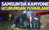 Samsun'da kamyonet uçurumdan yuvarlandı: 2 yaralı!