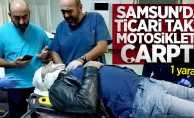 Samsun'da ticari taksi motosiklete çarptı! 1 yaralı
