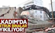 İlkadım'da metruk binalar yıkılıyor!