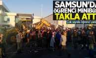Samsun'da öğrenci minibüsü takla attı! Çok sayıda öğrenci yaralandı