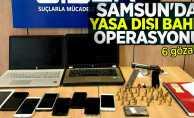 Samsun'da yasa dışı bahis operasyonu: 6 gözaltı