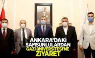 Ankara'daki Samsunlulardan Gazi Üniversitesi'ne ziyaret