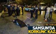 Samsun'da korkunç kaza: 2 ölü, 1 polis yaralı