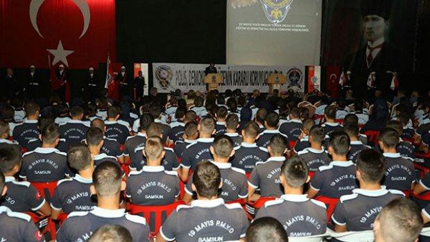 Samsun'da polis adayları ders başı yaptı