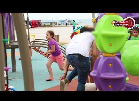 Samsun'da parktan çocuk kaçırma deneyi