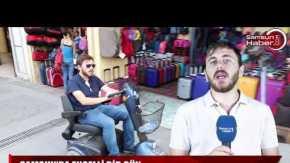Engelli aracıyla Samsun'da bir gün!
