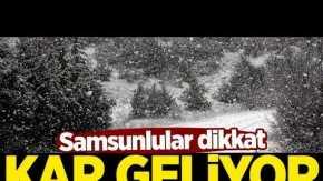 Samsun'a kar ne zaman yağacak? Meteoroloji uyardı