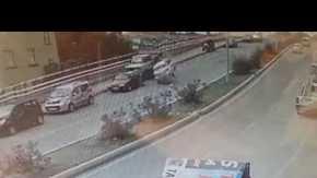 Samsun'daki korkunç kaza güvenlik kameralarına yansıdı