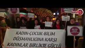 Samsunlu kadınlar İbrahim Emiroğlu'nu protesto etti